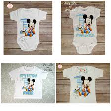 baby mickey 1st birthday baby mickey mouse 1st birthday onesie boys birthday onesie