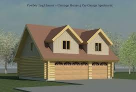 carriage house three car log garage cowboy log homes