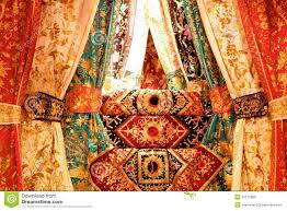 indonesian traditional wedding decoration stock photo image