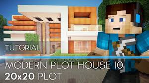 Tutorial Minecraft Modern House 20x20 Plot HD