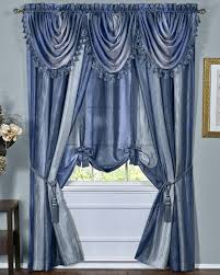Sheer Blue Curtains Ombre Sheer Tailored Panels Blue Achim Contemporary U0026 Modern
