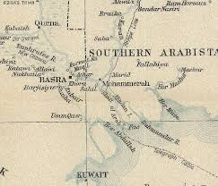 basra map early battles in mesopotamia basra and qurna 1914 the