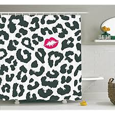 cheetah print bathroom decor amazon com