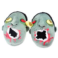 wholesale plush zombie slippers winter house slippers