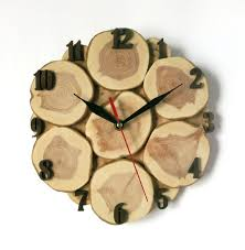 wall clock tree slice tree wall wooden clock rustic style 8 1 2