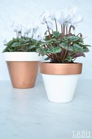 copper dipped planter pots little red brick house