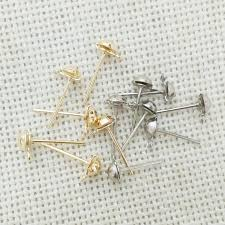 earring studs with loop earrings charms findings pins needles studs jewelry
