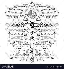 navajo aztec tribal ethnic ornament royalty free vector