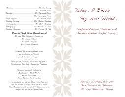 sided wedding programs wedding ideas awesome one sided wedding program template image