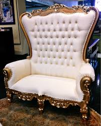 Home Furniture In Houston Texas Sit Like Royalty In The Tabs Over Sized White Tufted Chair With