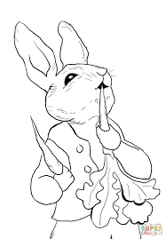 peter rabbit coloring pages peter rabbit stealing carrots coloring