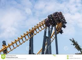 Six Flags Bowie Md Apocalypse Coaster Six Flags Maryland Editorial Stock Image