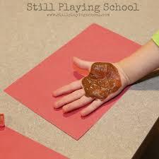 acorn handprint craft still playing
