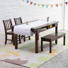 classic playtime espresso deluxe activity table with free paper