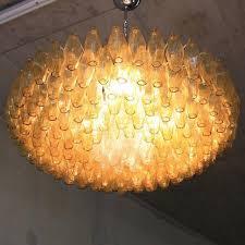 Orange Glass Chandelier Murano Glass Chandelier By Carlo Scarpa Italy At 1stdibs