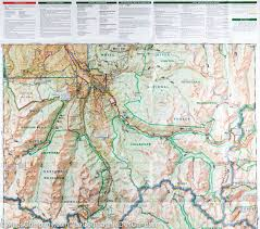 Matthiessen State Park Trail Map by Trail Map Of Collegiate Peaks Wilderness Area Colorado 148