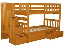 2 Bunk Beds Bunk Beds Stairway Honey 2 Drawers 699 Bunk Bed King