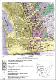 San Diego County Map The Otay Mesa Lateral Spread A Late Tertiary Mega Landslide In