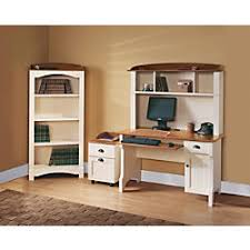Realspace Computer Desk Realspace Shore Mini Solutions Computer Desk With Hutch Antique