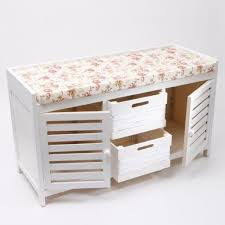 Bench Ottoman With Storage Awesome Ottoman With Drawers White Wooden Ottoman Storage Bench