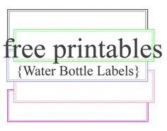 how to make water bottle labels water bottle labels water