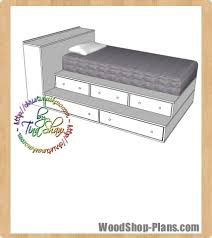 Woodworking Plans Storage Bed by Twin Bed Step Up Storage Woodworking Plans Woodshop Plans