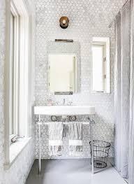 tiled bathroom walls marble hex tiled bathroom walls transitional bathroom