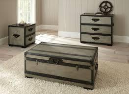 Dallas Designer Furniture Rowan Trunk Coffee Table Set With Cedar