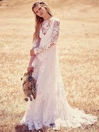 Wedding Dresses Online Shopping Long Sleeve Lace Wedding Dresses 2016 Juliet Boho Bridal Dress