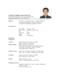 Sample Resume For Staff Nurse by Updated Resume Samples Updated Resume Danilo Torres Vargas Rnflat