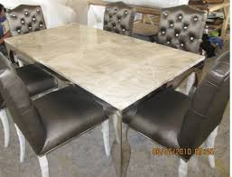 dining room sets for 6 stainless steel dinning table with dining room set with 6 chairs