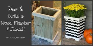 Planters Diy by How To Build A Wood Planter Tutorial Erin Spain
