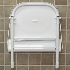 large wall mount folding shower seat with legs ada compliant