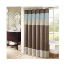 Blue And Brown Curtains Blue Brown Shower Curtain Foter
