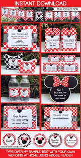 trampoline invitations minnie mouse birthday party printables invitations decorations