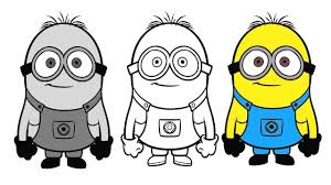 draw color minions coloring pages coloring pages