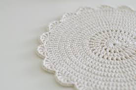 Shabby Chic Placemats by Handy Crafter Shabby Chic Doilies And Placemats