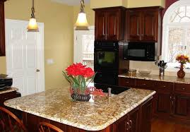 decor eye catching paint colors for kitchens with dark brown