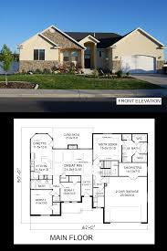 one story house plans with basement r 1734 pdf story house basements and bedrooms