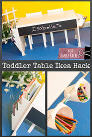 Ikea Toddler Table by Toddler Table Ikea Hack Simply Rachel