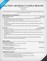 Architect Sample Resume by Solution Architect Resume Resumecompanion Com Amg Tampa