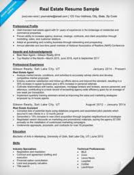 real estate resume real estate cover letter sle writing tips resume companion
