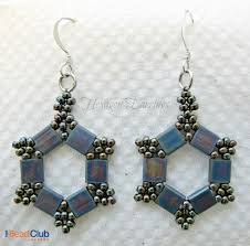 the bead club video tutorial hexagon earrings take 2 using tila