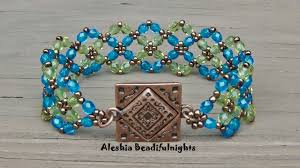 bracelet designs with beads images Crossing paths beaded bracelet tutorial jpg