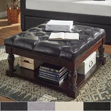 overstock ottoman coffee table lennon baluster espresso storage ottoman coffee table by inspire q