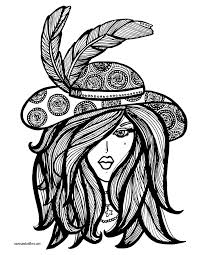 lady in hat coloring page free printable coloring and free