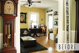 downstairs transformation with colorhouse paint u2014 little yellow couch