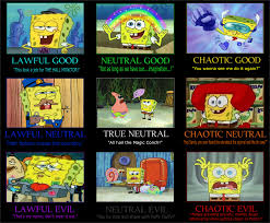 Spongebob Squarepants Meme - spongebob squarepants alignment chart alternative by jayzeetee16 on