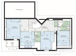 plan de maison a etage 5 chambres plan de maison en l avec etage plan maison en l avec etage partiel