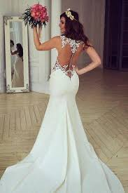 wedding dresses see through lace mermaid wedding dresses custom wedding